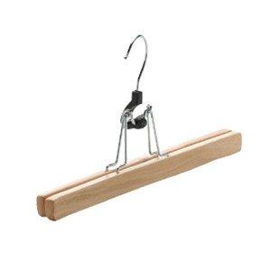 Cintre en bois pour jupe ou pantalon de 25 cm.