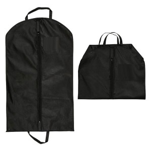 Pouch for suits or dresses with zipper and handles