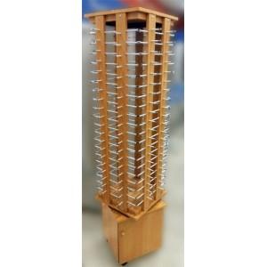 Expositor de gafas giratorio con cajón inferior para 80 unidades