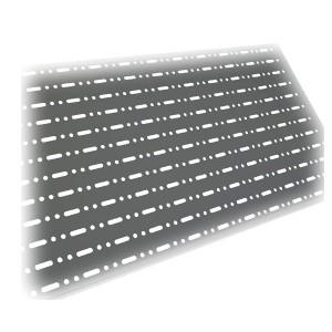 Panell perforat per prestatgeries i góndoles gris