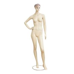 Maniquí de senyora color carn pèl esculpit mod. Verónica