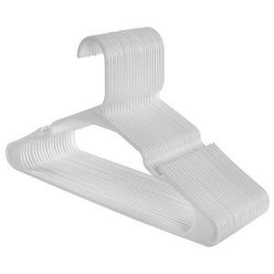 Runder Kunststoff Kleiderbügel mit Bar und Kerben 42 cm.
