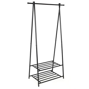 Metal coat rack with shoe rack