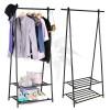Metal coat rack with wheels 100cm in height extensible series Rohr