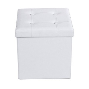 Foldable padded stool and storage box with handles