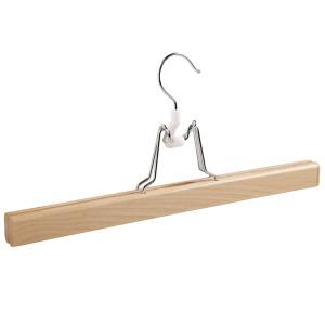 Percha de madera para falda o pantalón en madera de haya 35 cm.
