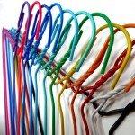 Cintre pour le nettoyage à sec et la lessive du fil recouvert de PVC 42 cm.