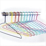 Hanger for dry cleaning and laundry of wire covered in PVC 42 cm.