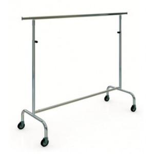 Appendiabiti in metallo impilabile con ruote larghe 150 cm. e altezza regolabile.