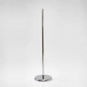 Base metall rodona diàmetre 27cm. pal metàl · lic 100cm.