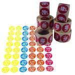 Etiquetas adhesivas de descuento