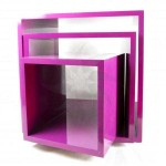 Fuchsia display cubes