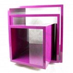 Cubetti display fucsia