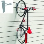 Bike display hook for panel slat. Store assembly.