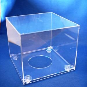 Espositore cubo metacrilato per palloni da calcio