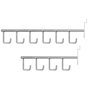 Simple hooks with hangers for panel of slats