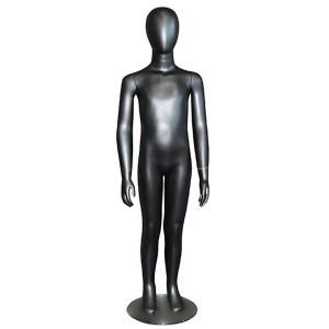 Maniquí sense trets de nen 7/8 anys en color negre mat