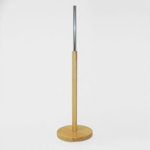 Round wooden base 29cm. diameter 60cm. wooden mast 35cm. metal tube