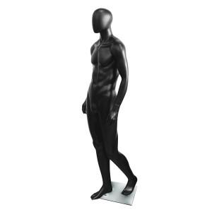 Maniquí d'home en color negre mat model Bruce