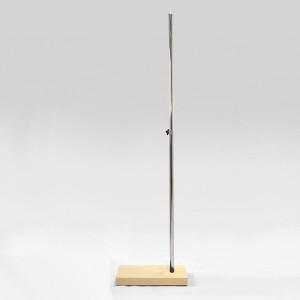 Base madera rectangular mástil metálico 100cm. extensible 90cm.