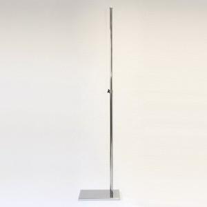 Base metal rectangular mástil metálico 100cm. extensible 90cm.