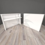 Wooden counter 117 X 50 X 100 cm. in various colors