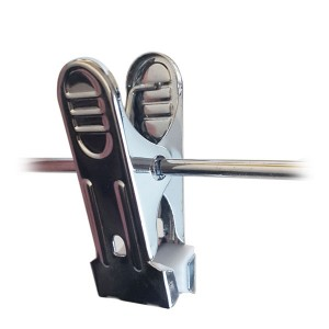 Metal clip for rod hangers 3.4 mm.