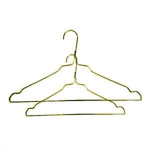 Metallaufhänger aus verzinktem Draht in goldener Farbe mit Kerben