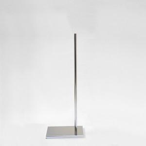Base en métal rectangulaire mât métal hauteurs différentes