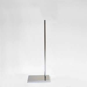 Rectangular metal base metal mast various heights