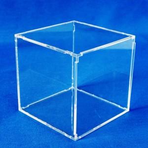 Exposant cube avec couvercle à déclic