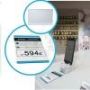 Placa de metacrilato para poner precios, descripción, referencia y datos técnicos de productos