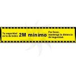 Affiche autocollante pour éloignement social MOD. 1 jaune