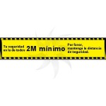 Self-adhesive poster for social distancing MOD. 1 yellow