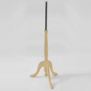 Base fusta trípode clàssica alçada 25cm. pal fusta 40cm. tub metàl • lic 35cm.
