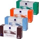 Guantes desechables de nitrilo azul sin polvo (150 unidades)