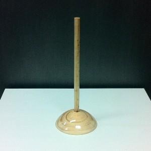 Base de fusta per bust miniatura alçada 28,5 cm.