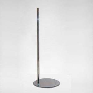Base metal plana redonda mástil metálico 100cm.