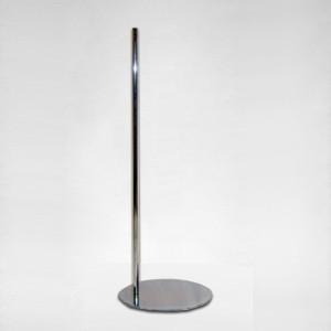 Runder Flach Metallbase 100cm. Metall Mast