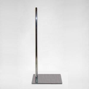 Base metal plana rectangular mástil metálico 100cm.