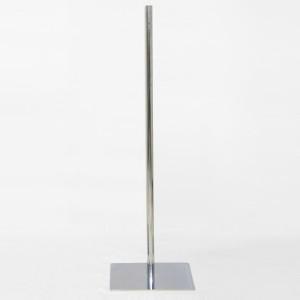 Base metal plana cuadrada varias medidas mástil metálico 100cm.