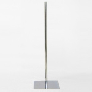 Quadrat Flach Metallbase 100cm. Metall Mast