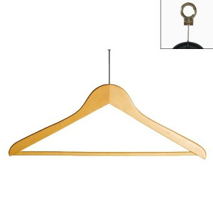 Wooden hanger with bar 45 cm.