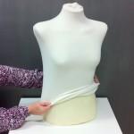 Doublure en coton pour buste court de femme