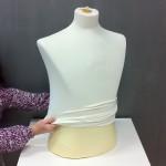 Baumwolleinlage für Herrenbüste kurzen