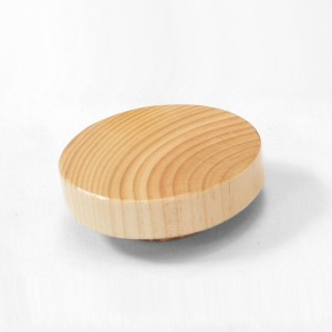 Flat wood cap for bust forms