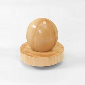 Tapa de fusta plana rematada bola per bustos