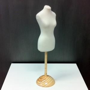 Pack Buste de femme miniature + Base en bois