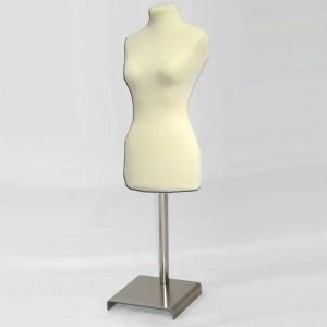 Pack Female miniature bust form + metal base