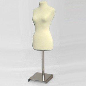 Pack Female miniature bust form + metal base